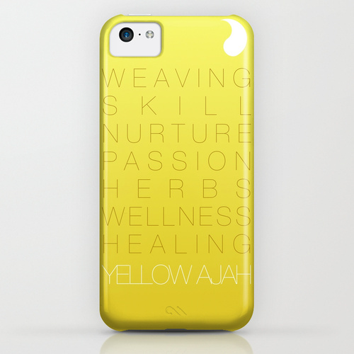 yellow ajah iphone 5c case By minniearts d6ndh4n
