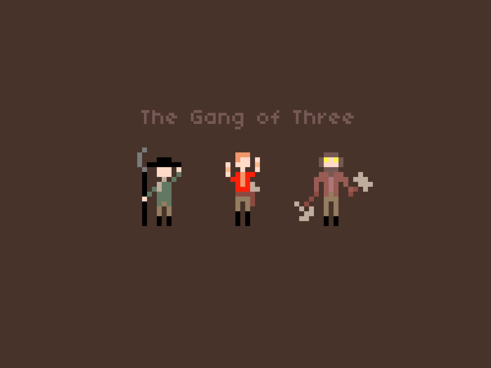The Gang Of Three, Wallpaper Edition