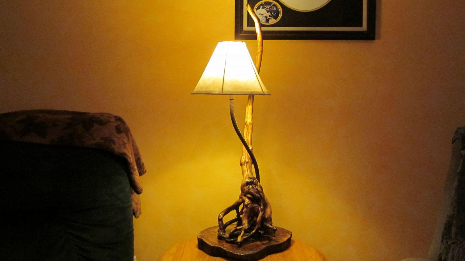 Bald Cypress tree lamp 2