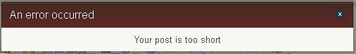 PostTooShort
