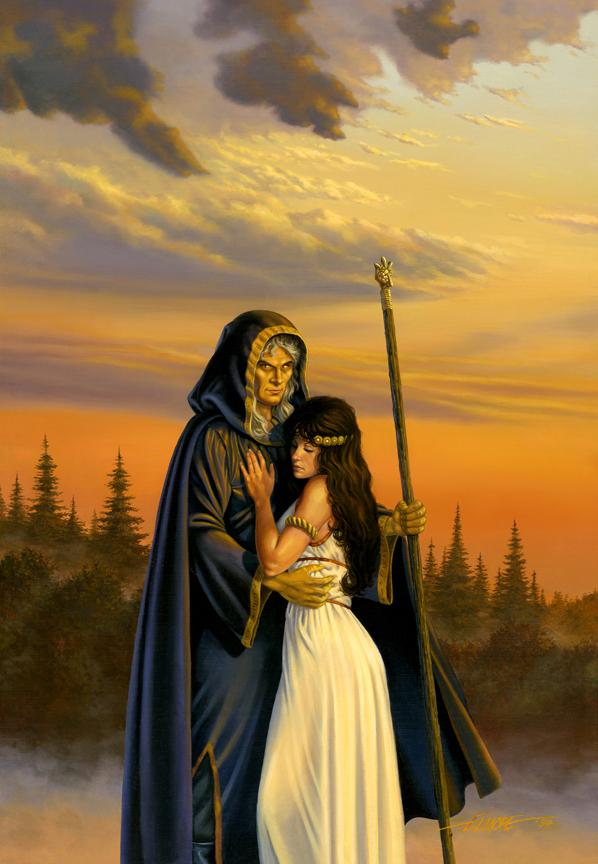 Raistlin And Crysania   Larry Elmore