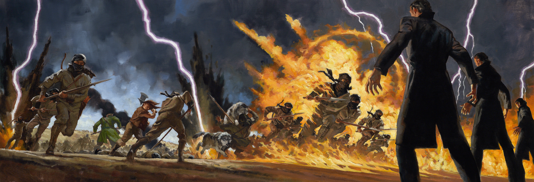 Lord of Chaos panoramic image by Greg Manchess
